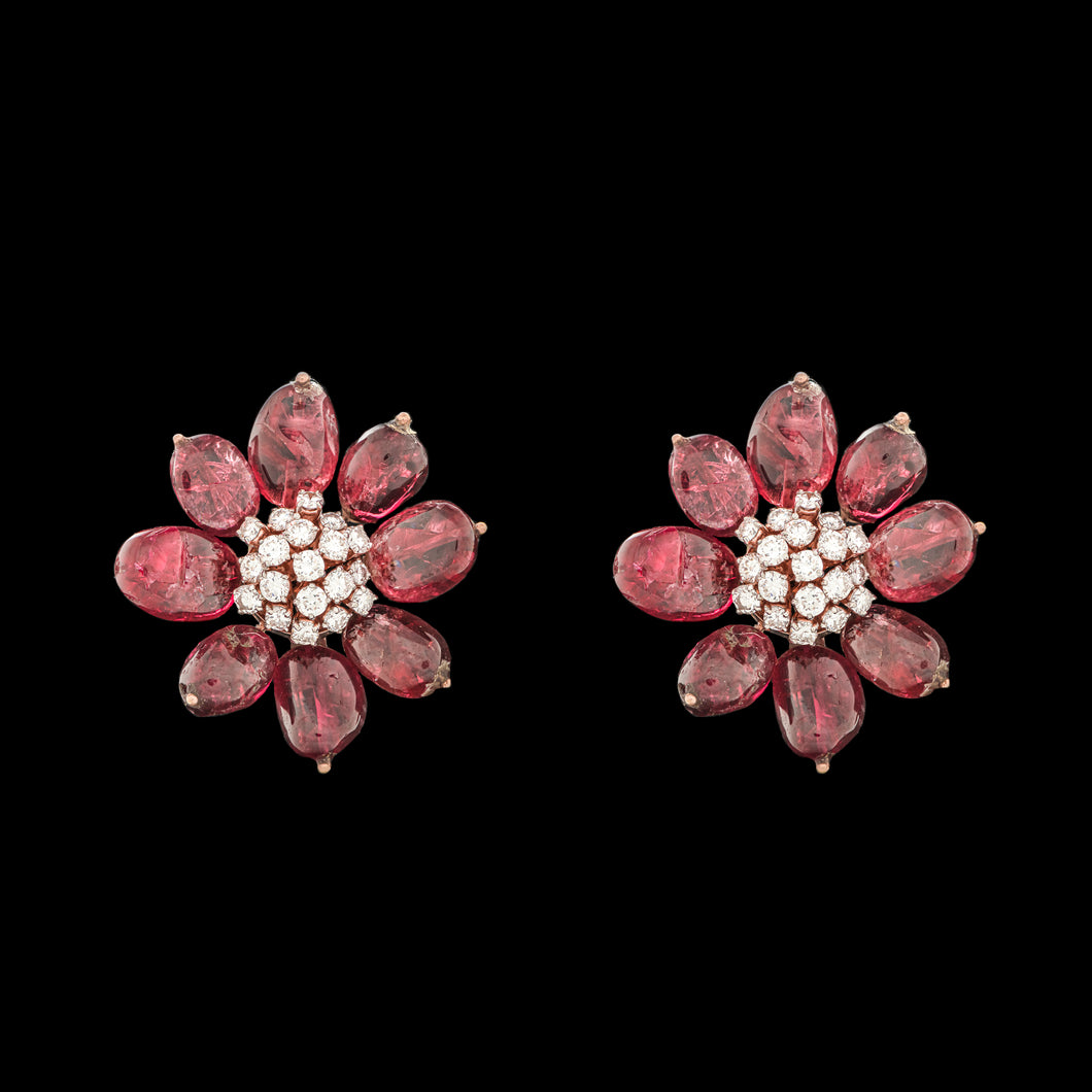 Diamond & Spinel Earrings