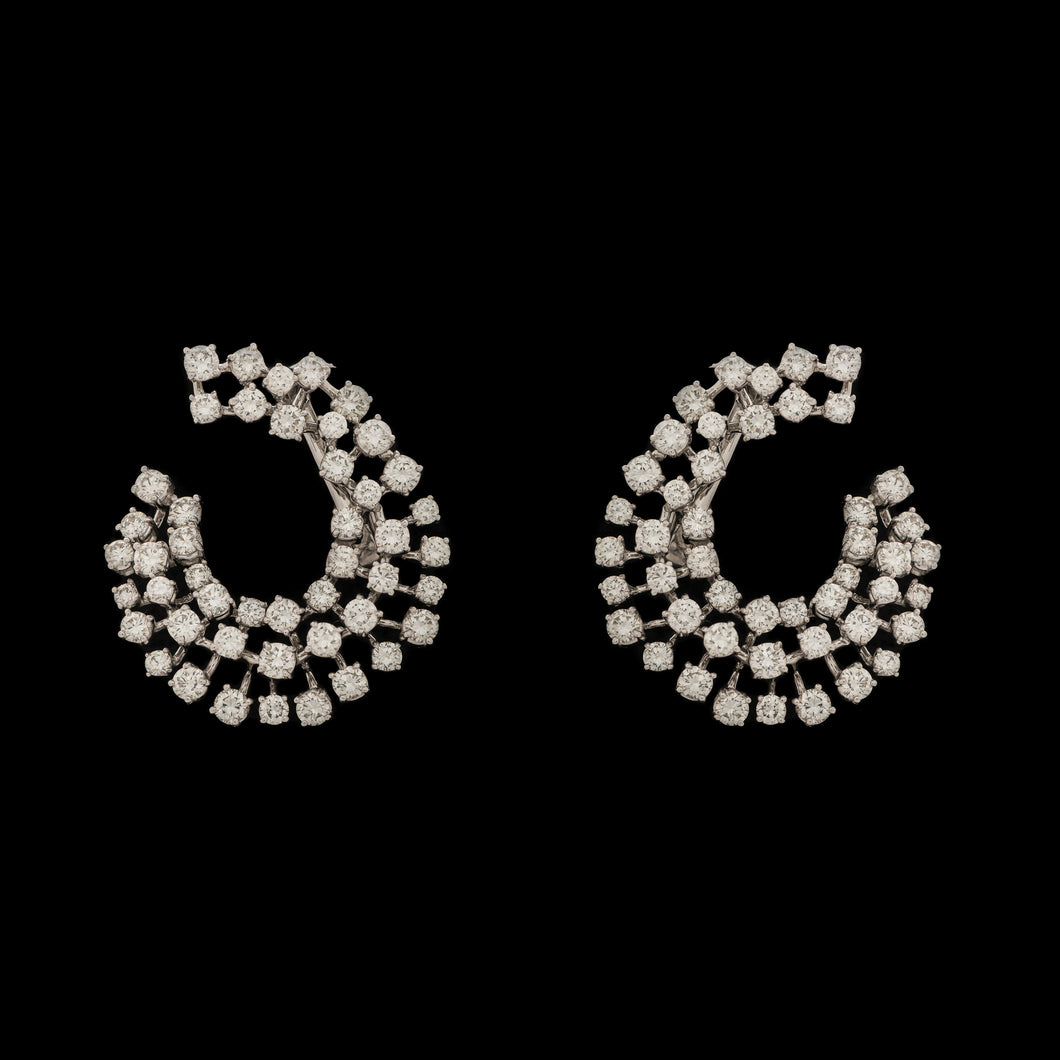 'Crescent Wave' Diamond Earrings