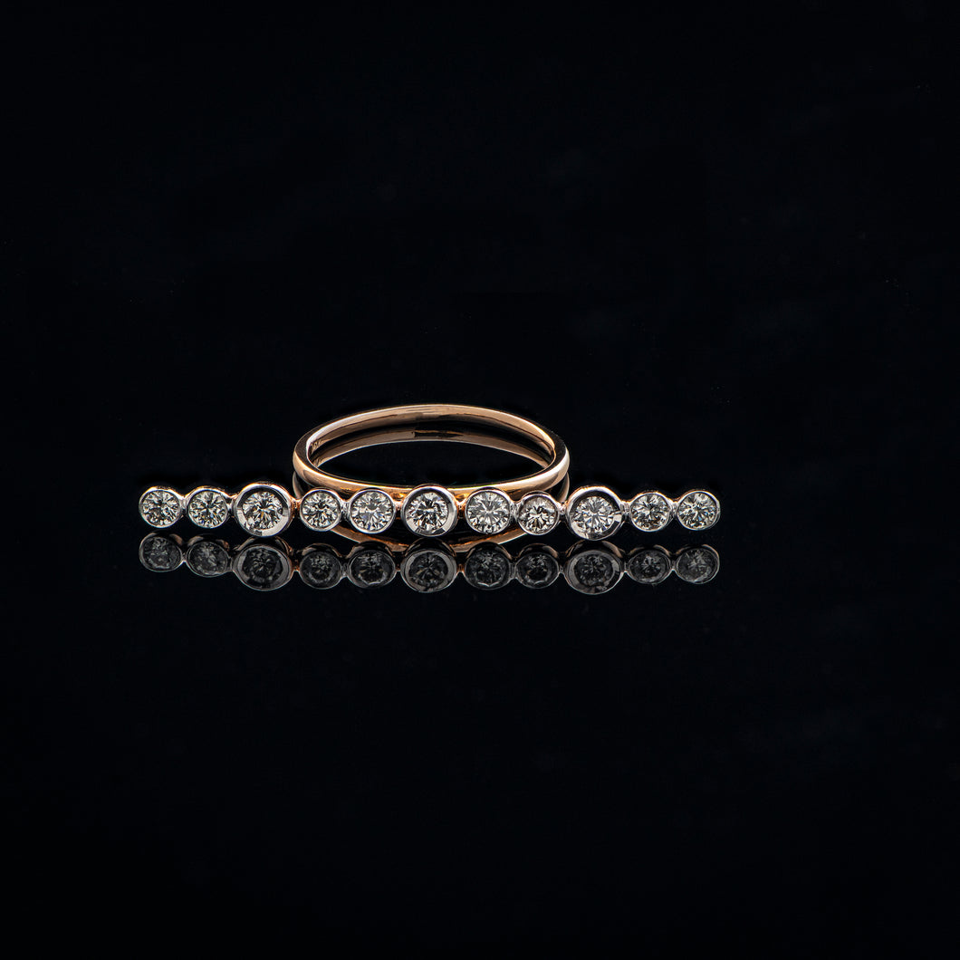Line Art Diamond Ring