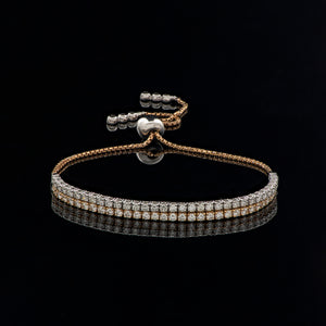 Two-Row Diamond Tennis Bracelet