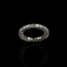 Load image into Gallery viewer, Carré Cut Eternity Ring