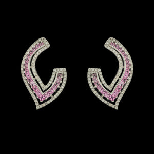 Diva Diamond & Pink Sapphire Earrings