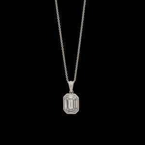 Diamond Pendant & Chain