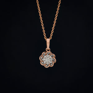 Sun Diamond Pendant with Chain