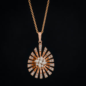 Star Rays Diamond Pendant & Chain