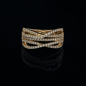 Entwined Diamond Ring