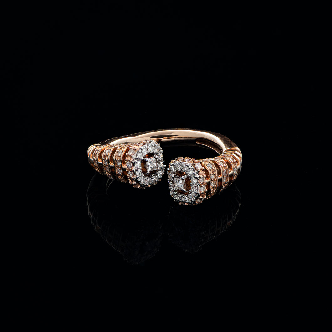 Tunnel Twin Diamond Ring