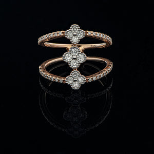 Tri-Clover Diamond Ring