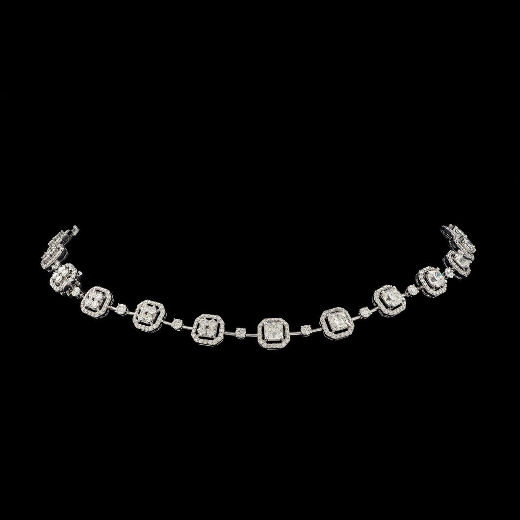 Rivière Radiant & Round Diamond Necklace
