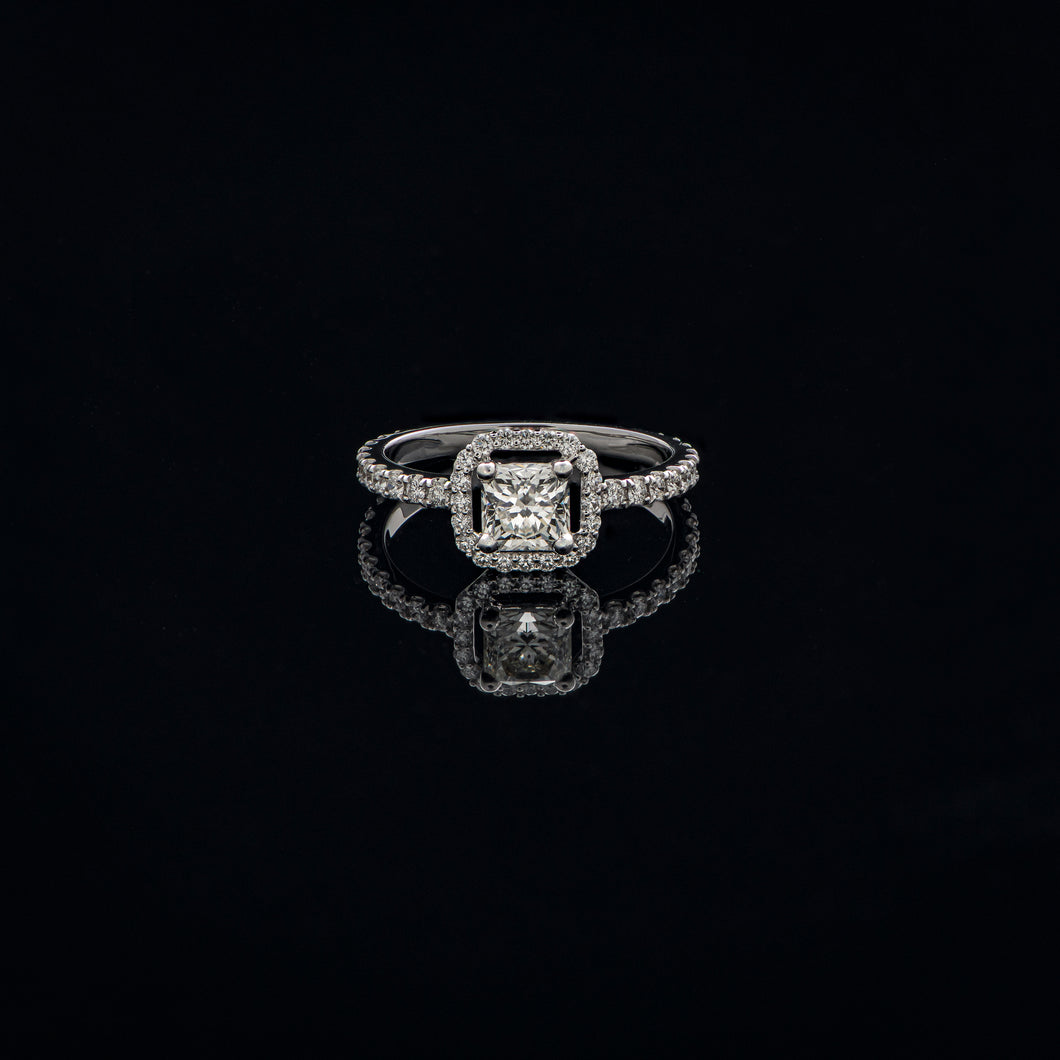 Radiant Diamond Solitaire Ring