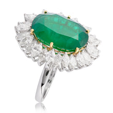 Load image into Gallery viewer, A Modern Emerald & Diamond Ring