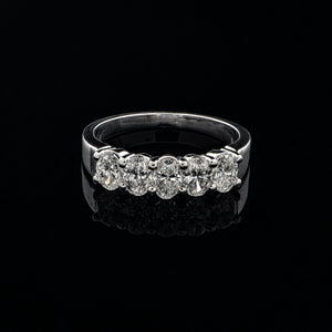 Half Eternity Oval Diamond Ring