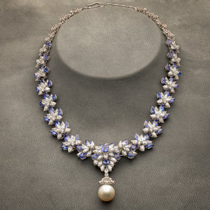 Tanzanite & Diamond Necklace with Earrings