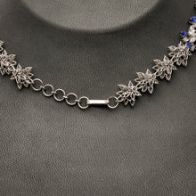 Load image into Gallery viewer, Tanzanite & Diamond Necklace with Earrings
