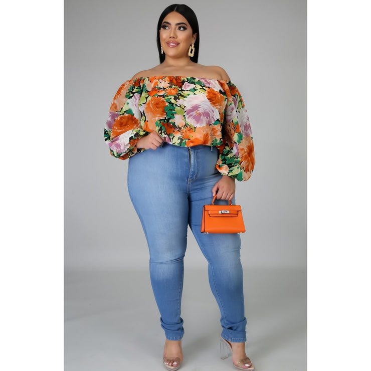 Can't Wait Forever Floral Top - LeAmore Boutique
