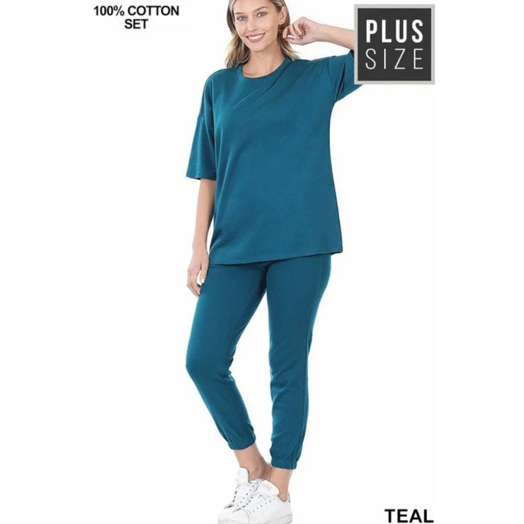 Game Time Jogger Set - Teal - LeAmore Boutique