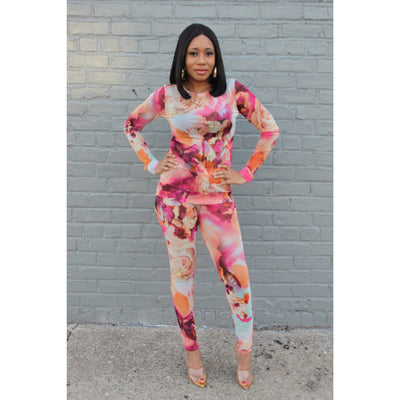 Too Sexy Floral Set - LeAmore Boutique