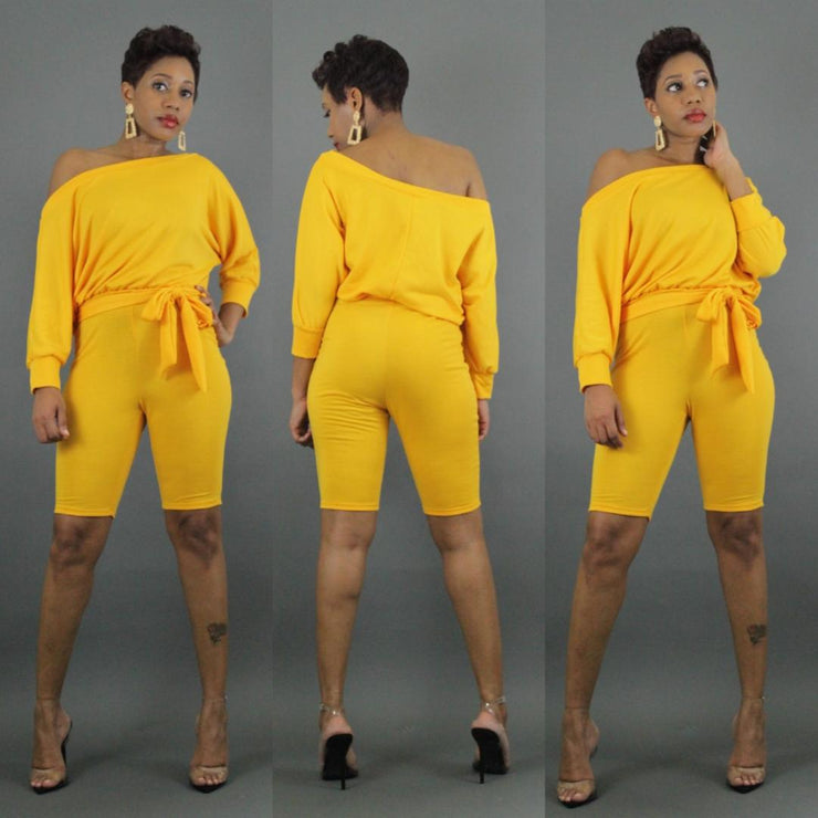 Yellow Gold Romper - LeAmore Boutique