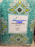 Double/full size fitted sheet + 2 pillow cases 100% cotton. Made in Pakistan $18 tax included.