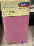 Twin fitted sheets alone 100% cotton made in Pakistan $9.73+tax=$11