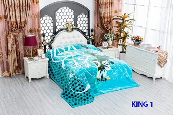 King size Raschel Blankets super soft Double ply 6.5 kg Machine Washable Very soft $66.37+tax=$75