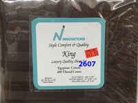 4 pc King size sheet sets 100% cotton plain 400 thread count, made in Pakistan $40 tax included
