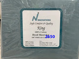 4pc King size sheet shets 100 cotton plain 200 thread count made in Pakistan, $35 tax included.