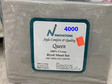 QUEEN SIZE PLAIN 4PC SHEET SETS 100% COTTON 200 THREAD COUNT MADE IN PAKISTAN $28 TAX INCLUDED