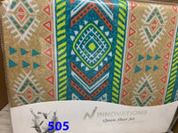 QUEEN SIZE 4PC SHEET SETS 100% COTTON MADE IN PAKISTAN $28 TAX INCLUDED