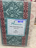 Twin fitted sheet and a pillow case 100% cotton made in Pakistan $13.27+tax=$15