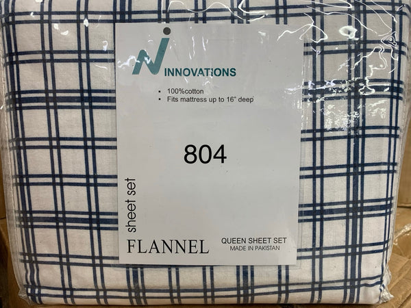 QUEEN SIZE FLANNEL SHEET SET 100% COTTON MADE IN PAKISTAN $30.97+TAX = $35