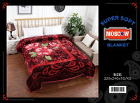 King size Raschel Blankets superthick Single ply 6.5 kg Machine Washable Very soft $57.52+tax = $65