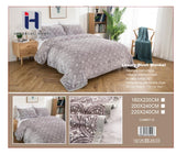 Queen size Luxury Plush Blankets 2 Ply Machine Washable Very soft $39.82+tax = $45