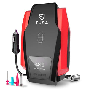 TUSA Digital Tyre Inflator - 12V DC Portable Air Compressor