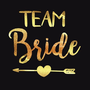 Team Bride Tattoos 12 Pack