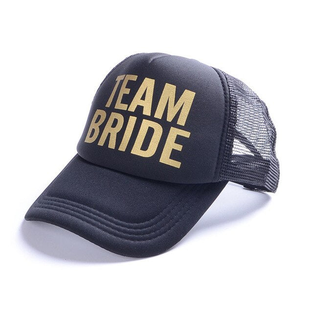 Team Bride Classic Hat. Gold