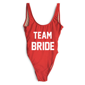 Team Bride Classic Suits. White Text
