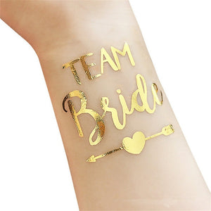 Team Bride & Bride Gold Tattoos