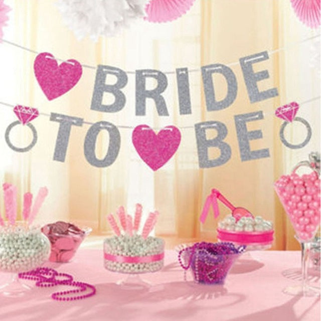 Glitter & Heart Bride to Be Banner