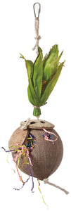 Feathered Friends Foraging Coconut Flowerpot - 34 x 13cm