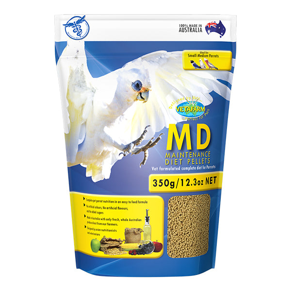 Vetafarm Maintenance Diet Parrot Pellets 350g