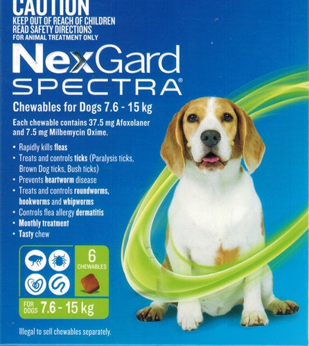 Nexgard Spectra Chewables for Dogs 7.6 - 15kg