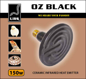 Oz Black Ceramic Globe 150w
