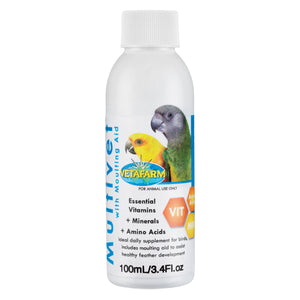 Vetafarm Multivet with Moulting Aid 100ml