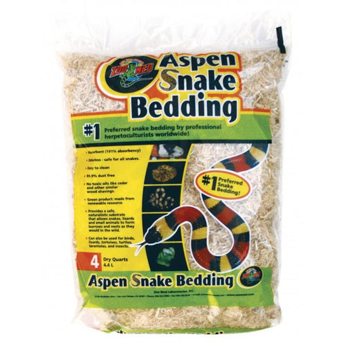 Zoo Med Aspen Snake Bedding 4 Quart 4.4ltr