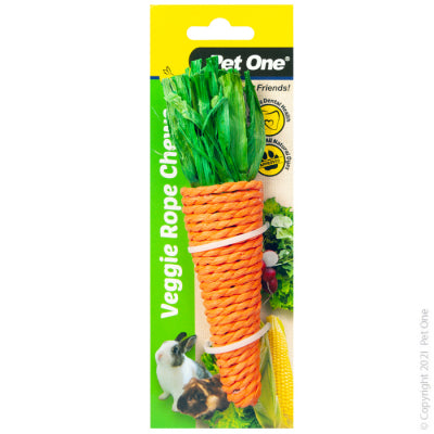 Veggie Rope Chew Carrot Large