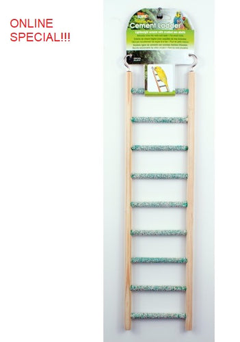 Cement Ladder with Wood Frame 9 Step