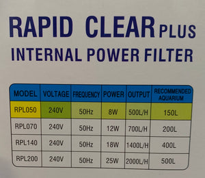 Rapid Clear Plus 500 L/HR