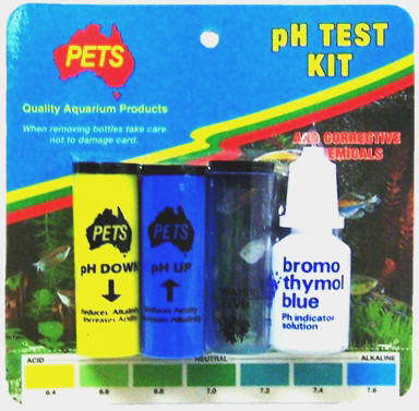 Junior pH Test Kit with corrective chemicals