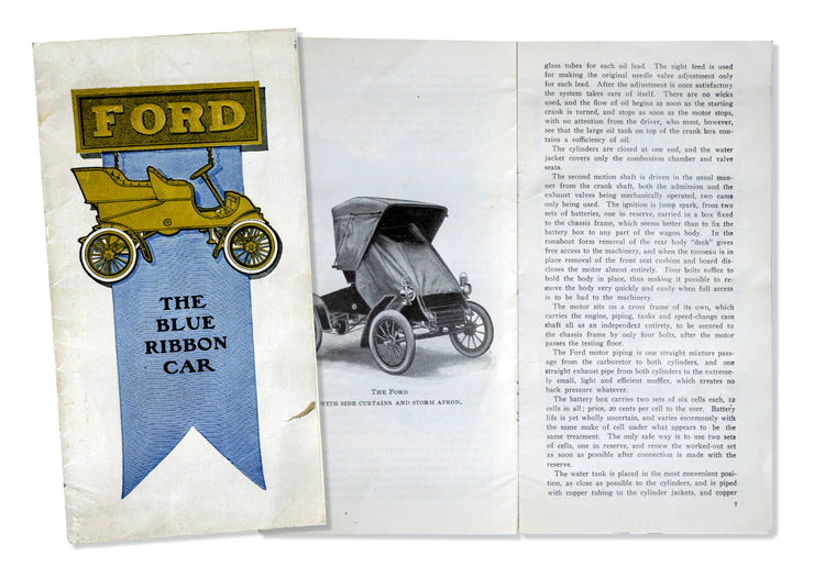 Ford blue ribbon sales brochure
